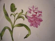 ASSIETTE EN FAIENCE DE NIDERVILLER DECOR OEILLET ROSE  XVIIIémé SIECLE