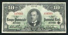 1936 $10 La Banque Provinciale Du Canada Montreal, Pq Ch. #615-18-08 Xf Scarce