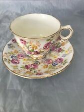 Royal Stafford England  June Roses Bone China Chintz Tea Cup and Saucer