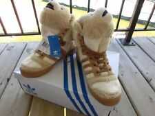 Adidas Originals Jeremy Scott JS Bear Brown Teddy Bear Size 9 100% Auth RARE