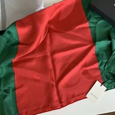 NWT Gucci Scarf Red Green Silk 100% Authentic