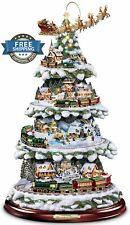 Bradford Exchange Christmas Tree Thomas Kinkade Wonderland Express Tabletop New