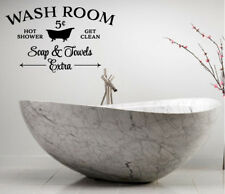 WASH ROOM VINYL WALL DECAL ART LETTERING DECOR STICKER BATHROOM DECOR VINYL SIGN