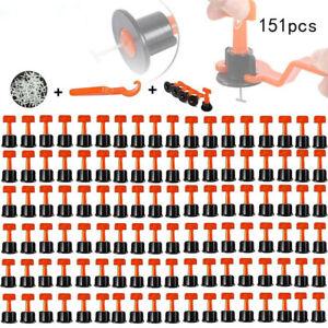 151x Tile Leveling System Kit Reusable Flat Ceramic T-Lock Locator Spacer Tools