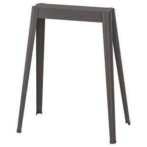 Brand New IKEA NARSPEL Dark Metal Gray Trestle Tabletop Steel Leg 104.712.45