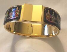 Rare Authentic HERMES Clic Clac Bangle Bracelet Perfume Bottle Design Enamel GP
