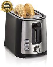 New Hamilton Beach Extra Wide 2 Slice Slot Kitchen decor Bagel Toaster Black