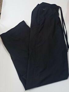 Nike Classic Plain Black Tracksuit Bottoms Medium Vintage 90s