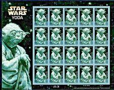Usa #4205 Mnh sheet, Star Wars Yoda, Fv $8.40 (2007)