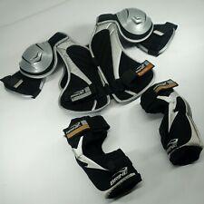 BRINE Lacrosse Pads Set Chest Shoulder Arm Elbow Adjustable Straps YOUTH MEDIUM