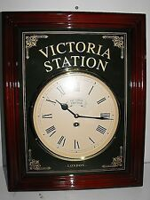"Victoria Station London Wall Clock As New And Working Perfect Boxed ""L@@K"""