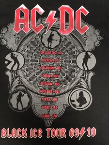 "AC/DC Black ice Tour T Shirt Size Small Mens 36"" Chest"