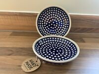 Small serving bowl Handmade Polish pottery Boleslawiec