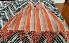 BILLABONG Beach Summer Singlet Dress Tassels Over Swimmers Strip Size 12
