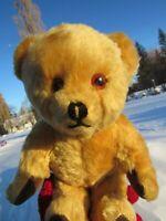 """VINTAGE LEFRAY ENGLAND MOHAIR TEDDY BEAR RARE TAGADORABLE SWEET FACE 12"""" ANTIQUE"""