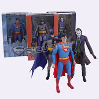 NECA DC Comics Superman Batman Joker PVC Action Figure Collectible Model Toy
