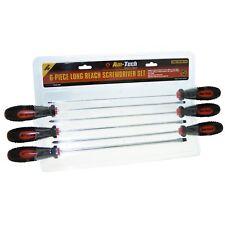 6 Pc Comfort Grip Magnetic Long Reach Screwdriver Set Extra Long Screwdrivers