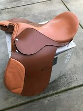 """16"""" ALL NEW LEATHER ENGLISH ALL PURPOSE JUMP SADDLE MUST SEE"""