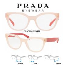 Prada Eyeglass Frames VPR21S UEW1O1 Opal/Dark Pink 51x19x140mm New & Authentic