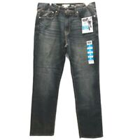 Denizen by Levis Mens Sz 34X32 Jeans 231 Athletic Fit Dark Wash Slim Leg Flex