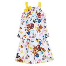 Disney Store Bambi Top & Short Set Girl Outfit Shirt Bottoms Furrytale Friends
