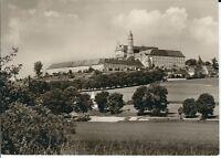 """Ansichtskarte Neresheim / Württemberg """"Abteikirche von Südwesten"""" - schwarz/weiß"""