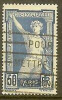 """FRANCE TIMBRE STAMP N° 186 """"JEUX OLYMPIQUES DE PARIS 1924 , 50c """" OBLITERE TB"""