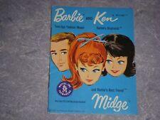 Vintage Mattel Barbie Ken And Midge Booklet, 1960'S, 100% Original, Excellent!