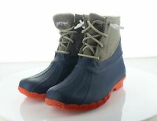 37-34 MSRP $120 Women's Size 7.5 Paul Sperry Saltwater Wool Ankle Booties - Blue