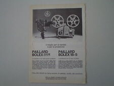 advertising Pubblicità 1962 PAILLARD BOLEX ZOOM/18-5