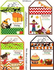 4 page Fall Tag Printable Toppers Tag -NO SHIPPING Will be Emailed