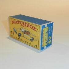 Matchbox Lesney 62 c Mercury Cougar Sedan empty Repro E style Box