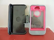 iPhone 4 iPhone 4s  Otterbox Case and Holster Defender Gray and Pink