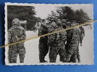 Tolles Foto frühe Bundeswehr Tarnbekleidung wie Wehrmacht Splittertarnstoff