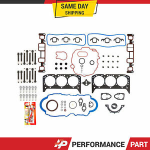 Full Gasket Set Head Bolts for 96-06 Chevrolet GMC 4.3L OHV VIN X W VORTEC