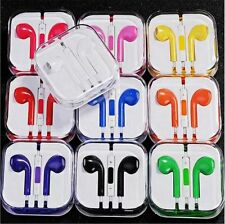 5PCS Full color Headphone earphone Mic vol for iPad iPod iPhone 6 6s 5 5S 4S