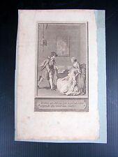 Gravure sur cuivre XVIII° signée Delvaux Rémi Henri Joseph datée 1787