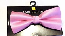 MENS BOW TIE PINK BOWTIE  PRE-TIED BOW WITH CLIP