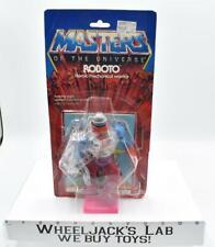 Roboto W Cardback & Bubble 1984 He-Man MOTU Masters of the Universe Mattel