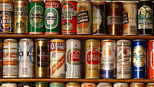 """Beer Cans - Man Cave - 42"""" x 24"""" LARGE WALL POSTER PRINT NEW."""