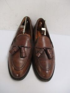 ALDEN Men's Brown Leather 561 TASSEL LOAFERS Size 9 A/C