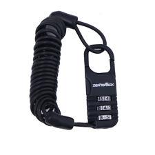 Motorcycle Helmet Lock & Cable Black Tough Combination PIN Locking Carabiner