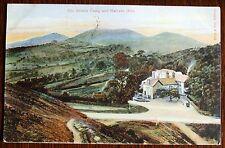 1906 Rural scene postcard - The British Camp and Malvern Hills. Worcestershire
