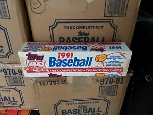 1991 Topps Baseball Factory Sealed Complete Set. Chipper Jones Rookie!!