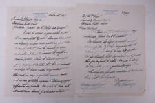 1927 Lamson Goodnow Eugene C Belknap Worcester MA Clark Letters Ephemera P447B