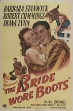 BRIDE WORE BOOTS Movie POSTER 27x40 Barbara Stanwyck Robert Cummings Diana Lynn