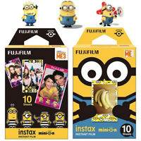 10X Movie Minions Yellow Fuji Instax Mini Instant Film For 7s 8 25 50s 90 SP-1
