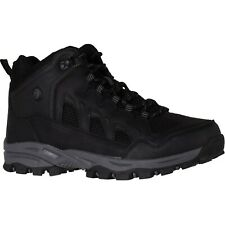 Men's Coleman BRUCE Black-Grey Lace-Up Waterproof Hiking Boot Shoes