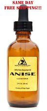 ANISE ESSENTIAL OIL AROMATHERAPY NATURAL 100% PURE GLASS DROPPER 2 OZ, 59 ml