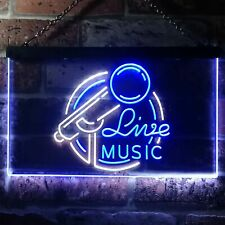 Live Music Display Dual Color LED Neon Sign st6-i3331